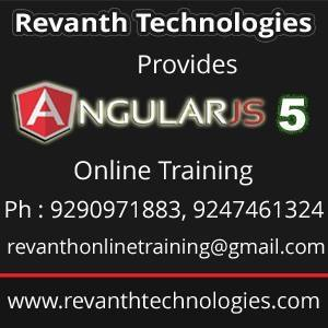 Angular5 Online Training from India