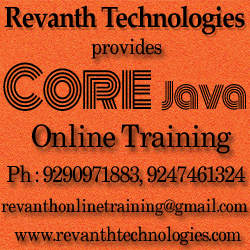 JavaCore Java Online Training from India