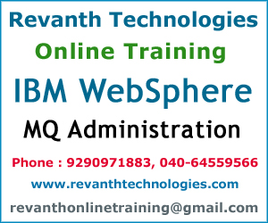 IBM WebSphere MQ Administration Online Training from India