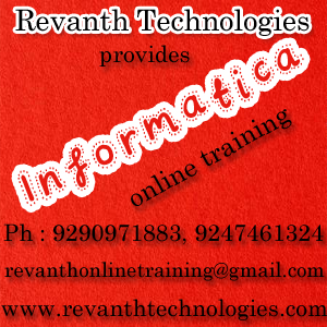 Informatica Online Training from India
