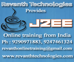 J2EE Online Training from India