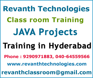 JAVA Projects Training Institute in Hyderabad, JAVA Projects