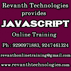 JavaScript Online Training from India