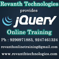 jquery Online Training from India
