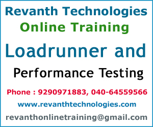 Loadrunner and Performance Testing Online Training from India