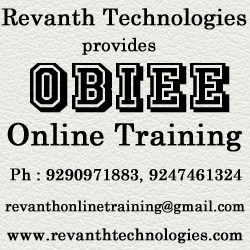 OBIEE 11g Online Training from India