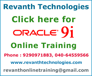 Oracle 9i Online Training from India