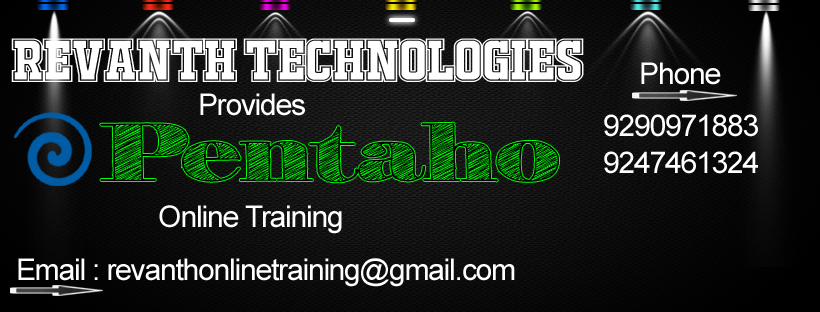 Pentaho Online Training from India