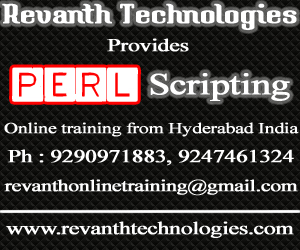 Perl Scripting Online Training from India