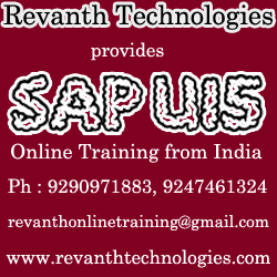SAP UI5 Online Training from Hyderabad India