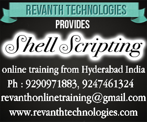 Shell Scripting Online Training from India