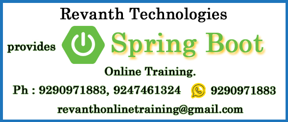 Spring Boot Online Training from India