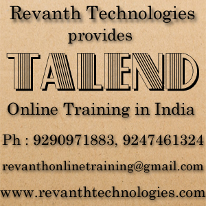 Talend Online Training from India
