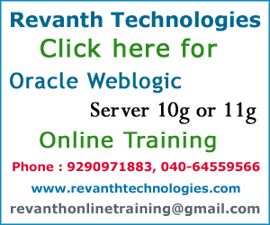 Oracle Weblogic Server Online Training from India