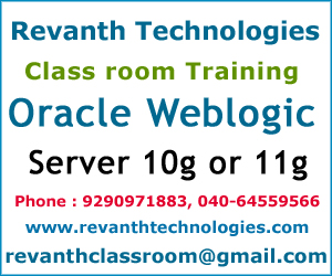 Oracle Weblogic Server Training Institute in Hyderabad