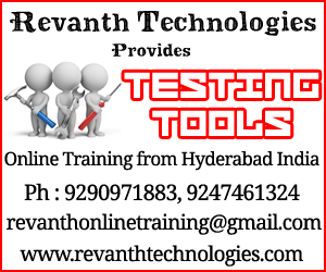 Testing Tools Online Training from India