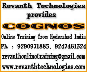 Cognos Online Training from India