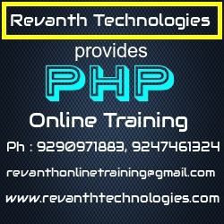 PHP Online Training from India